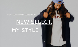 NEW SELECT,MY STYLE MEN'S 2016 WINTER COLLECTION
