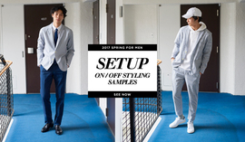 SETUP ON/OFF STYLING SAMPLES for MEN 2017Spring