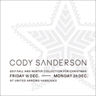 CODY SANDERSON 2017 FALL AND WINTER COLLECTION FOR CHRISTMAS