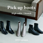 <Pick up boots>High ankle / Stretch