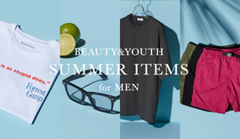 BEAUTY&YOUTH SUMMER ITEMS for MEN