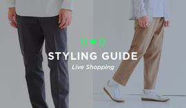 "MENS LIVE ""STYLING GUIDE"" 10/1 20:00~"