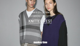 19AW COLLECTION RECOMMEND ITEM/STYLE KNITTED VEST