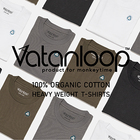<VATANLOOP>×<monkey time>  100% ORGANIC COTTON HEAVY WEIGHT T-SHIRTS