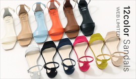 WEB LIMITED 12Color Sandals