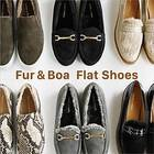 Fur&Boa  Flat Shoes