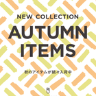 NEW COLLECTION AUTUMN ITEMS