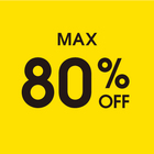 MAX 80% OFF SALE 開催中です!