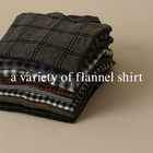 a variety of flannel shirt