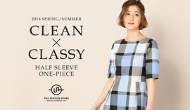 「CLEAN×CLASSY」 HALF SLEEVE ONE-PIECE