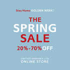 Stay Home GOLDEN WEEK!THE SPRING SALE 20%-70%OFF 開催